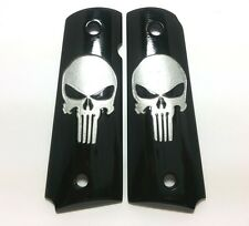 COLT 1911 GRIPS Custom Kimber Skull Punisher Resin Fit For Full Size Handmade
