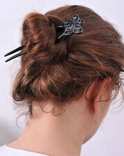 BUFFALO HORN HAIR FORK HAIR STICK FLOWER CARVED HAIR ACCESSORIES 0416