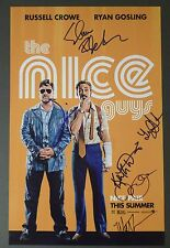 "THE NICE GUYS Cast (x6) Authentic Hand-Signed ""MATT BOMER"" 11x17 Photo (PROOF)"