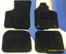 AUDI A4 08 - 12 S LINE BLACK CAR FLOOR MATS IN PREMIUM VELOUR WITH 2 X CLIPS