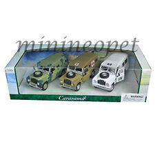 CARARAMA 35315 LAND ROVER SERIES III MILITARY 1/43 DIECAST MODEL CAR 3 CARS SET