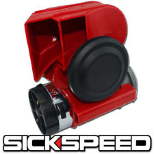 ONE RED NAUTILUS COMPACT HYBRID ELECTRIC/AIR HORN 139DB WITH RELAY FOR 12V P3