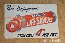LIFESAVERS TIN SIGN vintage advertising NEW Lolly Shop RETRO 50s milk lunch bar
