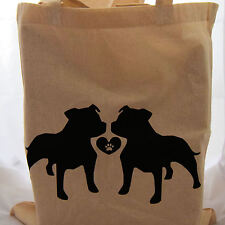 Tote Bag for dog staffordhsire bull terrier lovers ideal fun gift birthday