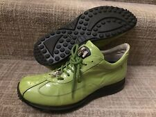 Mauri 8952 Green Patent Leather Croco Men's Low Sneakers Shoes sz 10.5M