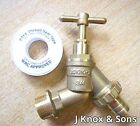 """3/4"""" Industrial Outside Tap with PTFE Tape Hose Union Bib Taps 22mm Pipe Brass"""