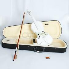 New Acoustic Violin 4/4 Full Size with Case Bow Rosin White Pure Sound