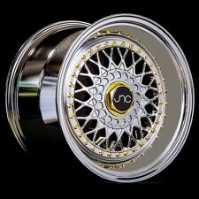 17x8.5 17x10 JNC004S RS Slant Lip Wheels 5x100 5x114.3 Platinum Chrome Gold Rims