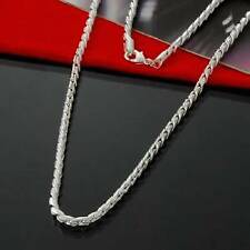 Silver Plated Fishbone Chain No Stone Necklace, Men's Birthday Valentine Present