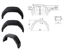 Garde Boue PLASTIQUE pour remorque - 10 Pouces - Demi Rond - 660x330mm - Port 0€