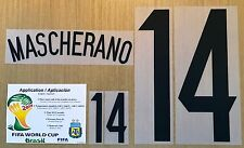 2014 World Cup, Argentina Name Number SET,  MASCHERANO #14