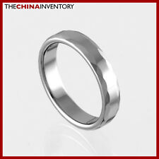 4MM SIZE 8.75 FACETED TUNGSTEN CARBIDE BAND RING R0916A