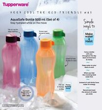 Tupperware Aqua Safe ECO Sports 500 ml New Water Bottles ( Set Of 4 ) Original!