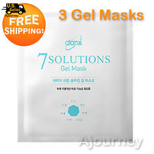 Atomy 7 Solutions Gel Mask Organic Herb Waters, Hydro-Gel Sheet/Silk Aminos 3pcs