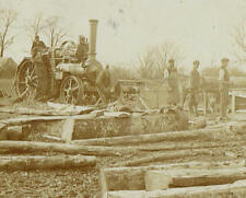 1905 Kings Stag Dorset Timber Yard Sawmill Traction Engine RP Postcard 9616