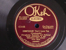 Louis Armstrong/Confessin'-If I Could Be with You/Okeh Electric 41180/V++ & N-