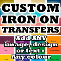 Custom Iron On T-Shirt Transfers Your Image Photo Design Hen Stag Personalised!*