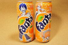Coca Cola Fanta Orange One Piece Luffy Nami Chopper Limited Design Can x2 JAPAN