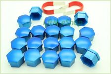 20x Blue Universal Wheel Nut Covers 17mm Hex  Comes with Removal Tools