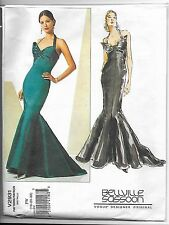 Vogue V2931 18-22 Sewing Pattern Vintage 1920s Gown Breast Bow Flared Train Wigg