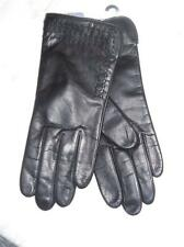 Fownes Genuine Leather Cashmere Blend Kisses Gloves,Medium, Black