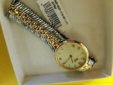 NWT NEW Seiko SFP386F 2 TONED Gold & Silver Tone Women's Watch