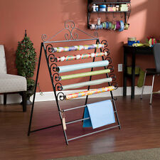 NEW Wrapping Paper Storage Rack Crafts Wall Mount Floor Display Presents Gifts