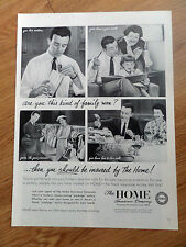 1958 The Home Insurance Company Ad This Kind Family Man