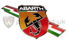 FIAT ABARTH 500, Punto Grande Evo foudre côté ABARTH badge logo NEUF authentique