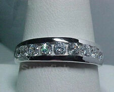 925 STERLING SILVER ROUND HALF ETERNITY RING SIZE 8