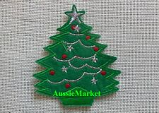 1 x christmas tree patch patches table cloth place mat apron iron on sew on xmas