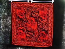 Adrienne Vittadini Silk Scarf Red and Black Panther with South American Motif