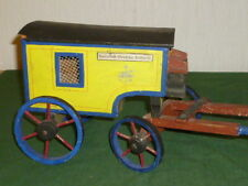 Antique large Stagecoach Wood Carriage Wooden toy Post for Horse