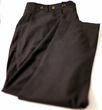 Men's Vivienne Westwood Man New Wool Black Pants Made in Italy Label 50 Meas 36