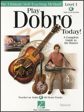 Play Dobro Guitar Today Level 1 TAB Music Book/DLC Learn How To Play Method