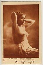 Morocco PRETTY MOORISH WOMAN HÜBSCHE ARABERIN * Vintage Ethnic Nude FLANDRIN PC