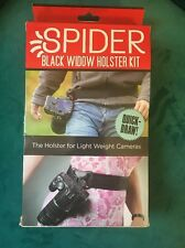 Spider Holster Black Widow Holster Kit For Light Weight Cameras  2-4 Lbs