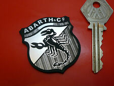 ABARTH SHIELD Style Self Adhesive Car Badge Laser Cut for FIAT SIMCA ALFA 500