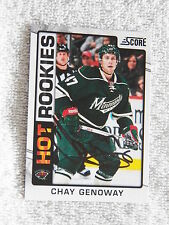Minnesota Wild Chay Genoway Signed 12/13 Score Hot Rookies Card Auto