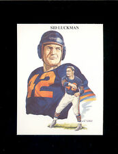 1989 TV-4 SID LUCKMAN Chicago Bears All Time Great Quarterback Rare Card