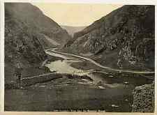 UK, Dovedale: View near the Stepping Stones  Vintage print. Dovedale is a valley