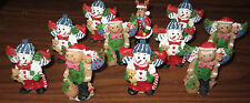 CHRISTMAS WHOLESALE  LOT Of 11 Assorted Figurines REINDEER Gingerbread Man NEW