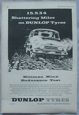 1959 Dunlop Tyres Hillman Minx endurance test Original advert