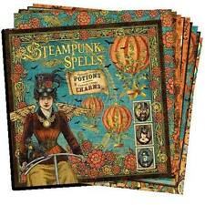 """GRAPHIC 45 """"STEAMPUNK SPELLS"""" 12X12 PAPER (12 SHEETS) RETIRED  SCRAPJACK'S PLACE"""