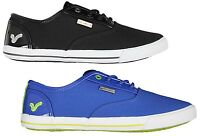 MENS NEW VOI JEANS FIERY PATENT LACE-UP TRAINERS IN 2 COLOURS BLACK-ROYAL 6-12