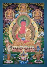"41.75"" x 29"" Amitabha Buddha Tibetan Buddhist Thangka Scroll Painting Nepal"