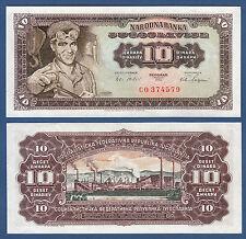 JUGOSLAWIEN / YUGOSLAVIA 10 Dinara 1965 UNC P.78
