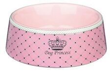 SET OF 2 - Trixie Small Ceramic Pink Princess Dog Bowl 0.18 l/ø 12 cm T24581