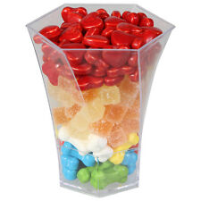 20 x Plastic Mini Hexagonal Canapé Cups 130ml - Party and Wedding  (Ref: 102)