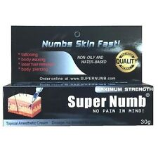 30g SUPER NUMB Strongest Numbing Cream Skin Body Piercings Waxing Laser Skin Dr